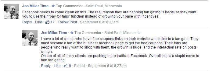 Facebook Banning Like Gate Services for on Mobile Application's !