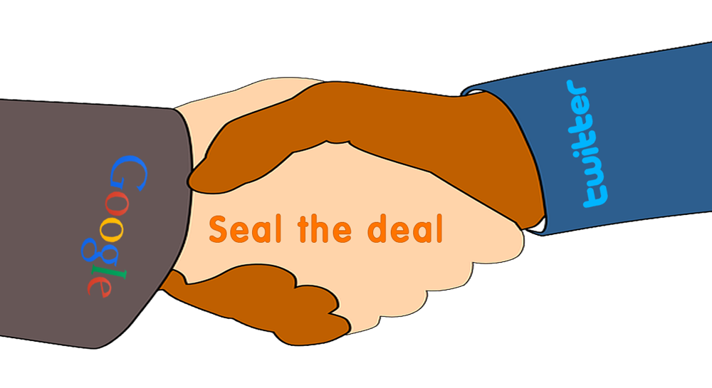 Seal the deal Google Twitter tie up