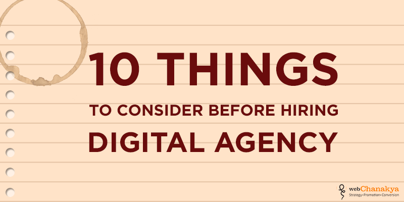 10 THINGS to consider before hiring agency