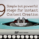 9step content creation