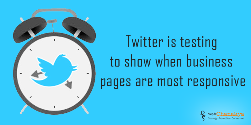 Twitter is testing to show when business pages are most responsive