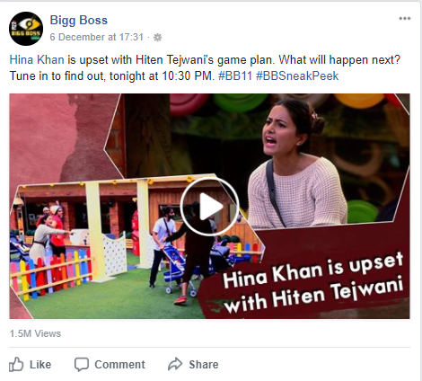 Decoding Social Media strategy of India's most talked about show – Bigg Boss 11 by WebChanakya